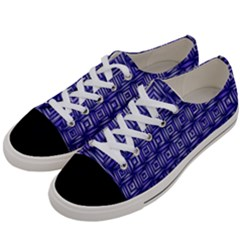 Classic Blocks,blue Women s Low Top Canvas Sneakers by MoreColorsinLife