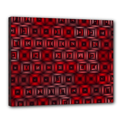Classic Blocks,red Canvas 20  X 16  by MoreColorsinLife