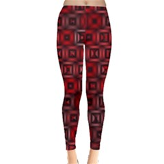 Classic Blocks,red Leggings  by MoreColorsinLife