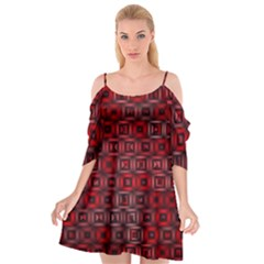 Classic Blocks,red Cutout Spaghetti Strap Chiffon Dress by MoreColorsinLife