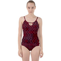 Classic Blocks,red Cut Out Top Tankini Set by MoreColorsinLife