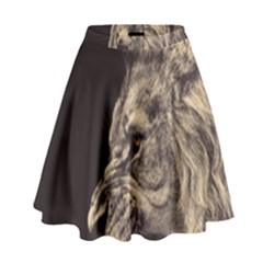Angry Male Lion High Waist Skirt by Celenk