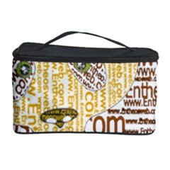 Panda Typography Cosmetic Storage Case by Celenk