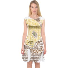 Panda Typography Capsleeve Midi Dress