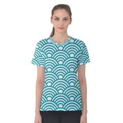 Art Deco Teal Women s Cotton Tee by 8fugoso