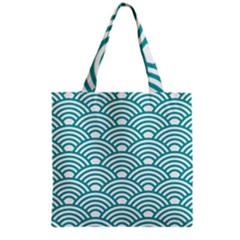 Art Deco Teal Grocery Tote Bag by 8fugoso