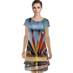 3abstractionism Cap Sleeve Nightdress by 8fugoso
