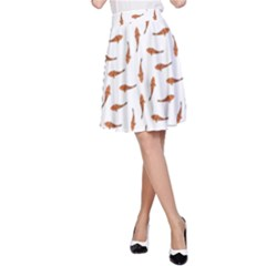 Koi Fishes Motif Pattern A Line Skirt by dflcprintsclothing