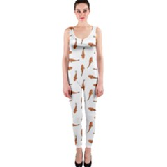 Koi Fishes Motif Pattern Onepiece Catsuit