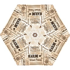 Vintage Newspapers Headline Typography Mini Folding Umbrellas by yoursparklingshop