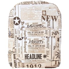 Vintage Newspapers Headline Typography Full Print Backpack by yoursparklingshop