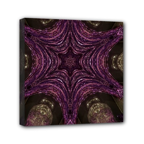 Pink Purple Kaleidoscopic Design Mini Canvas 6  X 6  by yoursparklingshop