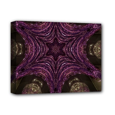 Pink Purple Kaleidoscopic Design Deluxe Canvas 14  X 11  by yoursparklingshop
