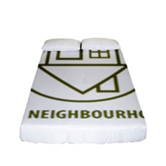 The Neighbourhood Logo Fitted Sheet (full/ Double Size) by Celenk