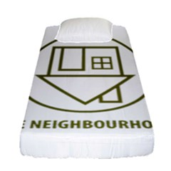 The Neighbourhood Logo Fitted Sheet (single Size) by Celenk