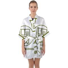 The Neighbourhood Logo Quarter Sleeve Kimono Robe by Celenk