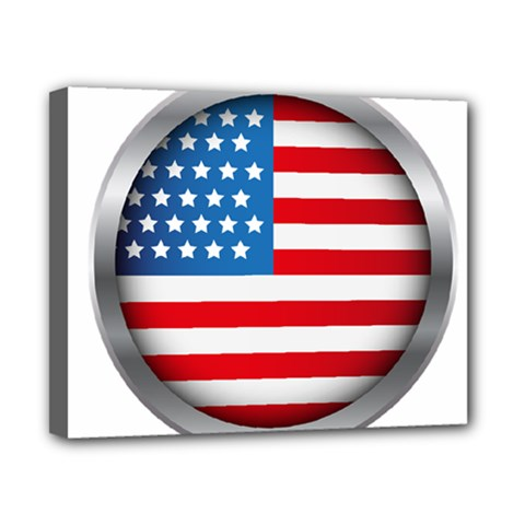 United Of America Usa Flag Canvas 10  X 8  by Celenk