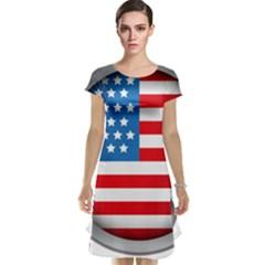 United Of America Usa Flag Cap Sleeve Nightdress