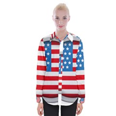 United Of America Usa Flag Womens Long Sleeve Shirt