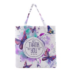 Thank You Grocery Tote Bag by Celenk