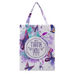 Thank You Classic Tote Bag by Celenk