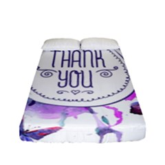 Thank You Fitted Sheet (full/ Double Size) by Celenk