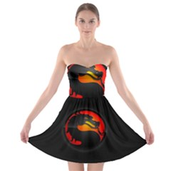 Dragon Strapless Bra Top Dress