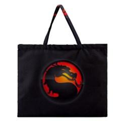 Dragon Zipper Large Tote Bag by Celenk