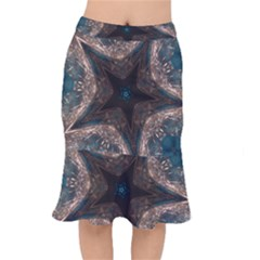 Kaleidoscopic Design Elegant Star Brown Turquoise Mermaid Skirt by yoursparklingshop