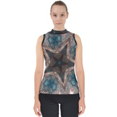 Kaleidoscopic Design Elegant Star Brown Turquoise Shell Top by yoursparklingshop