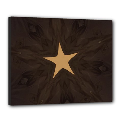 Rustic Elegant Brown Christmas Star Design Canvas 20  X 16  by yoursparklingshop
