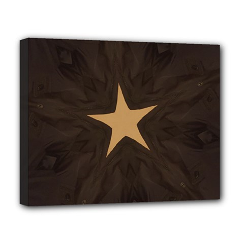 Rustic Elegant Brown Christmas Star Design Deluxe Canvas 20  X 16   by yoursparklingshop