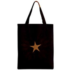 Rustic Elegant Brown Christmas Star Design Classic Tote Bag by yoursparklingshop