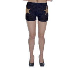 Rustic Elegant Brown Christmas Star Design Skinny Shorts by yoursparklingshop
