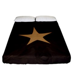 Rustic Elegant Brown Christmas Star Design Fitted Sheet (king Size) by yoursparklingshop