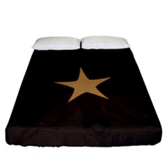 Rustic Elegant Brown Christmas Star Design Fitted Sheet (california King Size) by yoursparklingshop