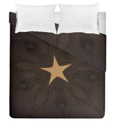 Rustic Elegant Brown Christmas Star Design Duvet Cover Double Side (queen Size) by yoursparklingshop