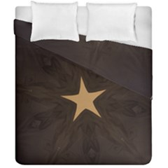 Rustic Elegant Brown Christmas Star Design Duvet Cover Double Side (california King Size) by yoursparklingshop
