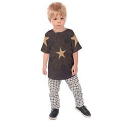 Rustic Elegant Brown Christmas Star Design Kids Raglan Tee by yoursparklingshop