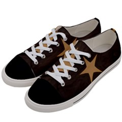 Rustic Elegant Brown Christmas Star Design Women s Low Top Canvas Sneakers by yoursparklingshop