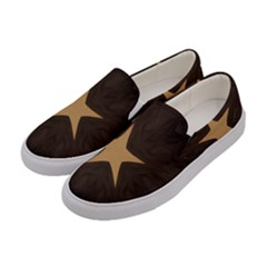 Rustic Elegant Brown Christmas Star Design Women s Canvas Slip Ons by yoursparklingshop