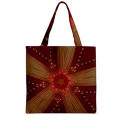 Red Star Ribbon Elegant Kaleidoscopic Design Grocery Tote Bag by yoursparklingshop