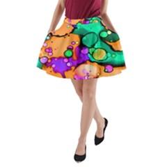 Abstract Acryl Art A Line Pocket Skirt by tarastyle