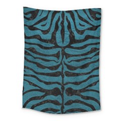 Skin2 Black Marble & Teal Leather Medium Tapestry by trendistuff