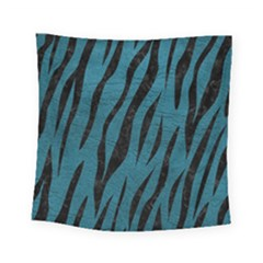 Skin3 Black Marble & Teal Leather Square Tapestry (small) by trendistuff