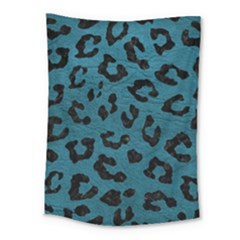 Skin5 Black Marble & Teal Leather (r) Medium Tapestry by trendistuff