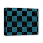 SQUARE1 BLACK MARBLE & TEAL LEATHER Deluxe Canvas 14  x 11