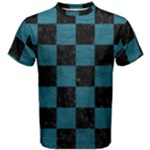 SQUARE1 BLACK MARBLE & TEAL LEATHER Men s Cotton Tee