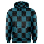 SQUARE1 BLACK MARBLE & TEAL LEATHER Men s Pullover Hoodie