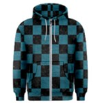SQUARE1 BLACK MARBLE & TEAL LEATHER Men s Zipper Hoodie